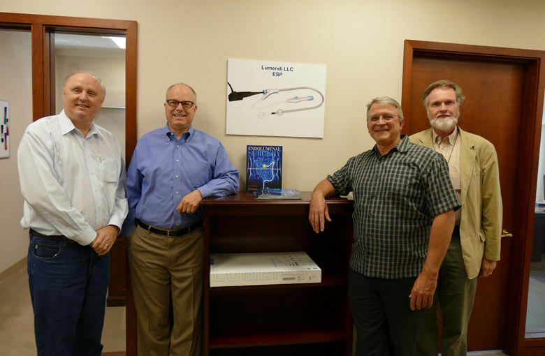From left to right: New Lumendi staff - James White; Eric Coolidge; Dennis Daniels and Ian Shaw