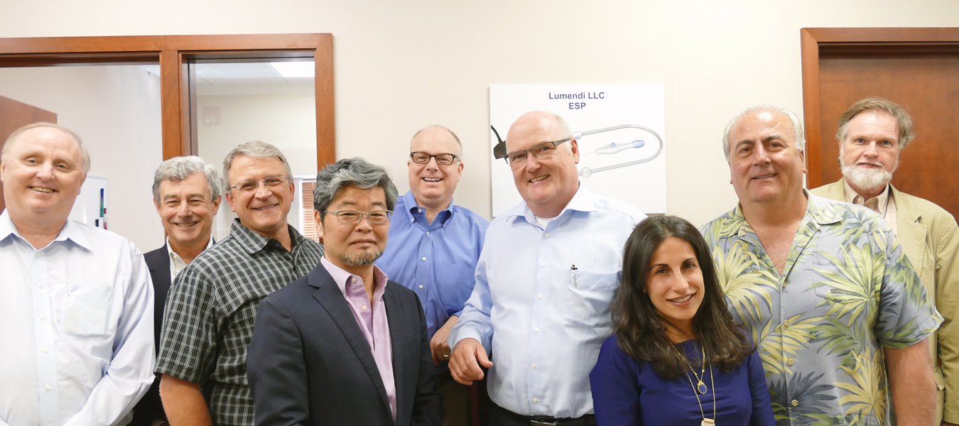Left to right Lumendi staff: James White, Bill Wick, Dennis Daniels, , Yukio Nakajima, Eric-Coolidge AND Peter Johann, Katerina Svigos, Mike Parrella, Ian-Shaw