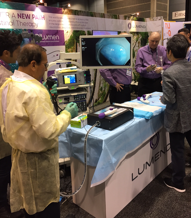 "#DDW: Experts for surgical endoscopy or gastrointestinal surgery wanted to ""test-drive"" our DiLumen line of products. We gave them an opportunity to take things into their own hands = taking DiLumen for a ""spin""."