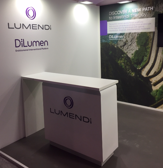 Last 5 minutes of silence before the run starts at our booth at UEG Barcelona.
