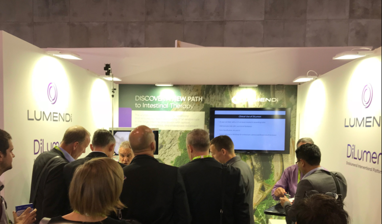 UEG Barcelona 2017 Exhibition: Much interest at the Lumendi booth.